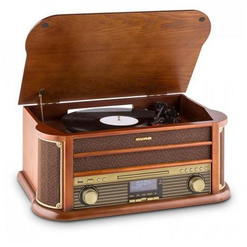 Auna Belle Epoque 1908 DAB Wieża stereo retro Gramofon DAB+ Bluetooth (4260457482149)