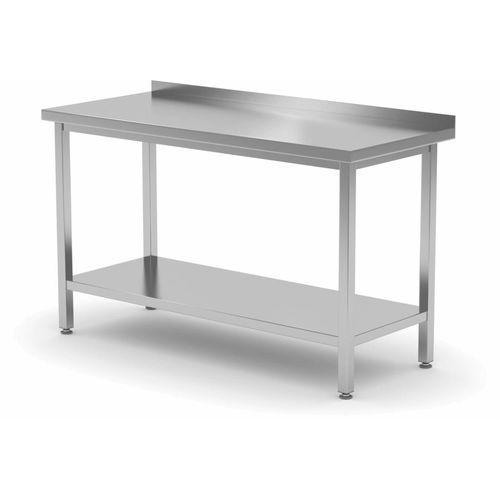 Polgast Stół przyścienny z półką   szer: 400-1900mm gł. 700 mm