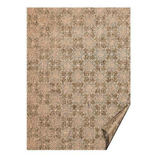 Heyda Karton a4 220g  eco ornamenty - j. różowy x1