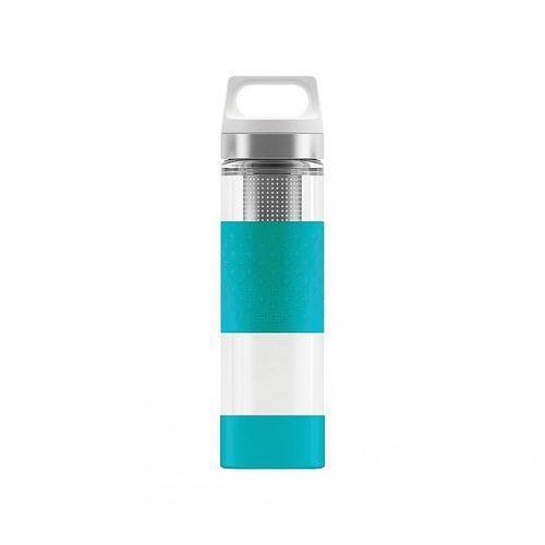 Termos szklany wmb z zaparzaczem hot & cold glass 400 ml (aqua) marki Sigg