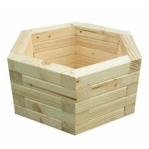 Drewniana sześciokątna donica ogrodowa 15 kolorów - Erli 3X, Donica-drewniana-nr-1