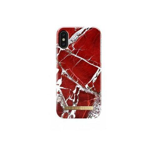 iDeal Fashion Case iPhone X (Scarlet Red Marble)