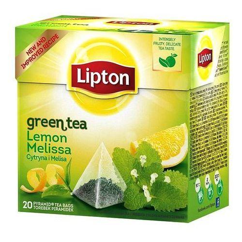 Lipton Herbata green lemon melissa piramidki (20 saszetek)