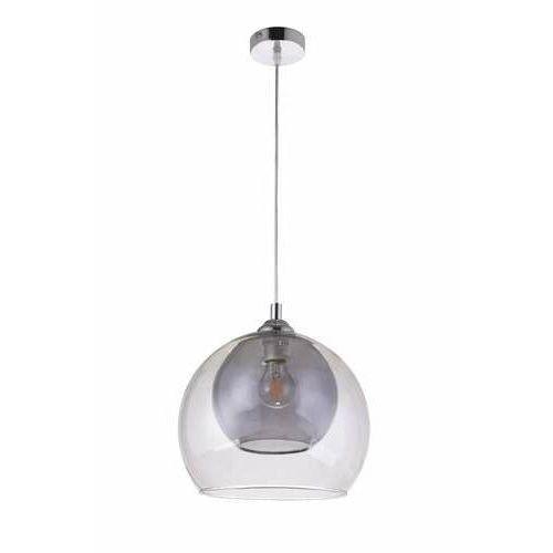 Krislamp Loko KR 400-1L lampa wisząca zwis 1x40W E27 transparentna/dymiona