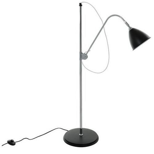 Italux Stojąca lampa podłogowa evato mle3052/1c-bl  metalowa oprawa na regulowanym ramieniu chrom czarna