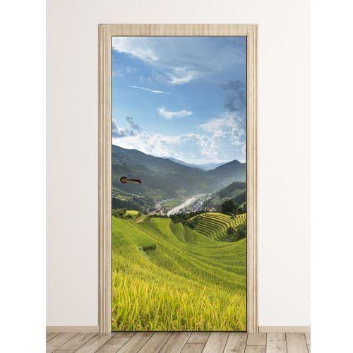 Fototapeta na drzwi pola ryżowe fp 6235 marki Wally - piękno dekoracji