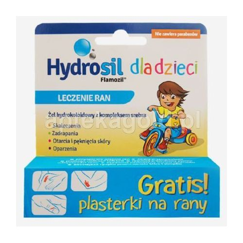 Hydrosil żel hydrokoloidowy z kompleksem srebra 20 g + Plasterki na rany GRATIS!!