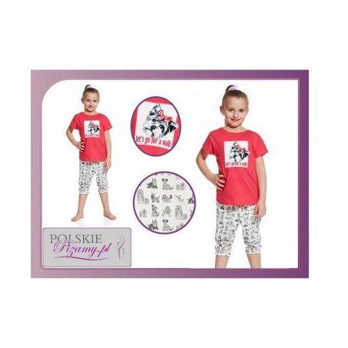 Piżama dziecięca MELA: róż, kolor różowy
