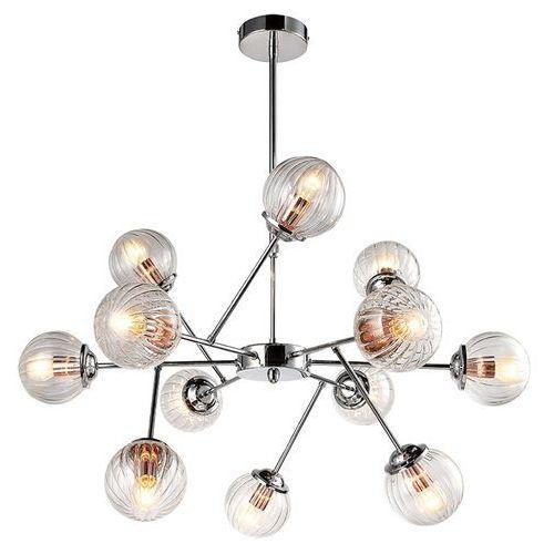 LAMPA wisząca BEST 30-64806 Candellux szklana OPRAWA zwis molekuły kule balls przezroczyste, kolor Srebrny