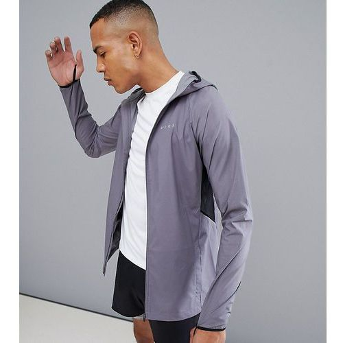 Asos 4505 tall windbreaker with breathable mesh panels - grey