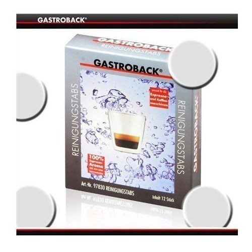 cleaning tablets 12 pcs. 97830 for all espresso and coffee machines marki Gastroback