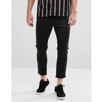 Selected homme smart trousers with zip ankle - black