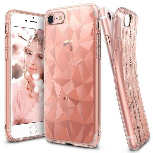 Etui ringke air prism apple iphone 7, rose gold (różowy) + folia marki Rearth