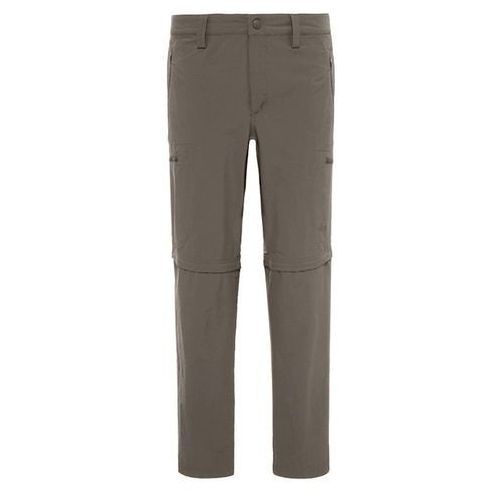 The north face Spodnie exploration convertible pant long men - weimaraner / brown