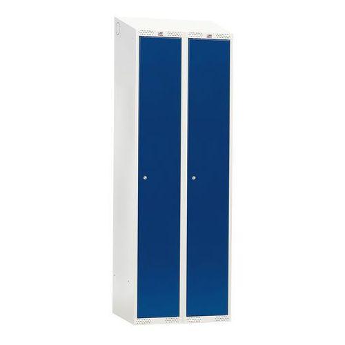 Szafa do przebieralni 2 sekcje 1900x600x550 mm drzwi niebieskie marki Aj