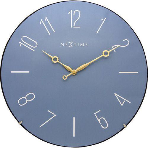 Zegar ścienny Trendy Dome niebieski, kolor niebieski