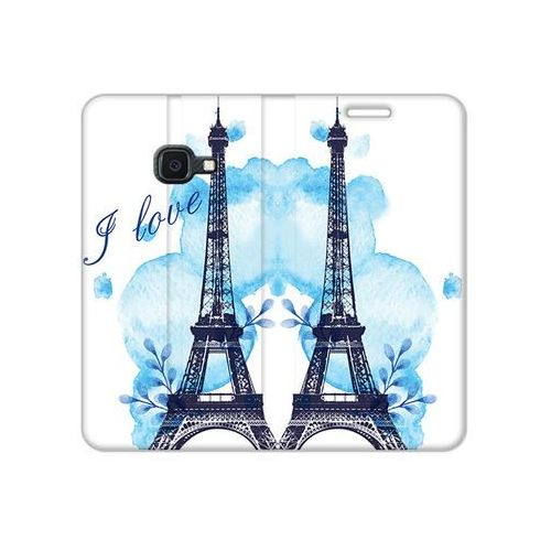Samsung galaxy xcover 4s - etui na telefon flex book fantastic - niebieska wieża eiffla marki Etuo flex book fantastic