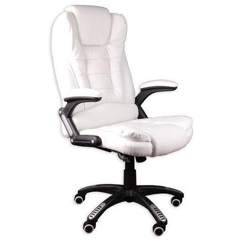 Giosedio Fotel biurowy bruno biały z masażem