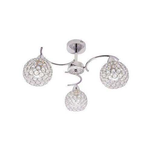 Krislamp sofia kr 310-3pl lampa wisząca zwis 3x40w e14 chrom (5907582567820)