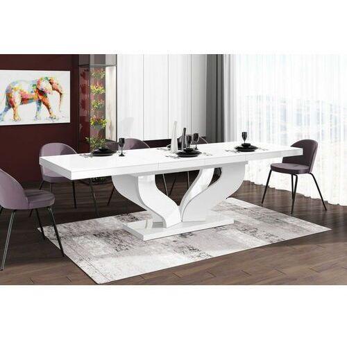 Stół rozkładany viva 160-256 biały połysk marki Hubertus