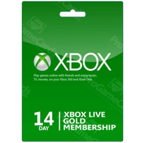 Microsoft Xbox 14 days gold membership