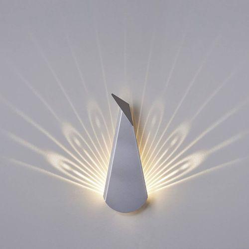 Popup lighting Aluminium peacock-kinkiet led paw z wtyczką wys.37cm (3663710136734)