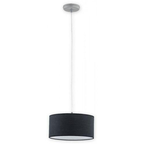 Lemir lara o2761 w1 sza + cza lampa wisząca zwis 1x60w e27 szary mat / czarny