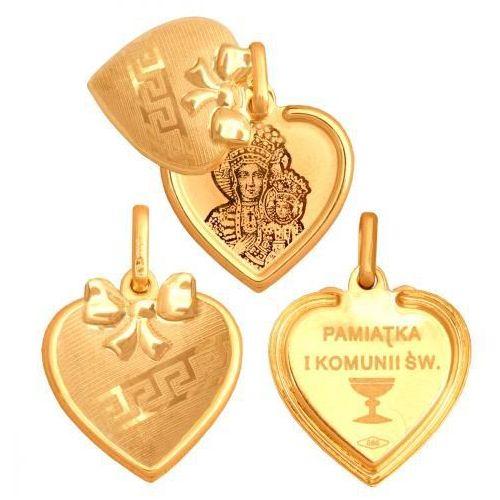 Rodium Złoty medalik - 33816 - pr.585