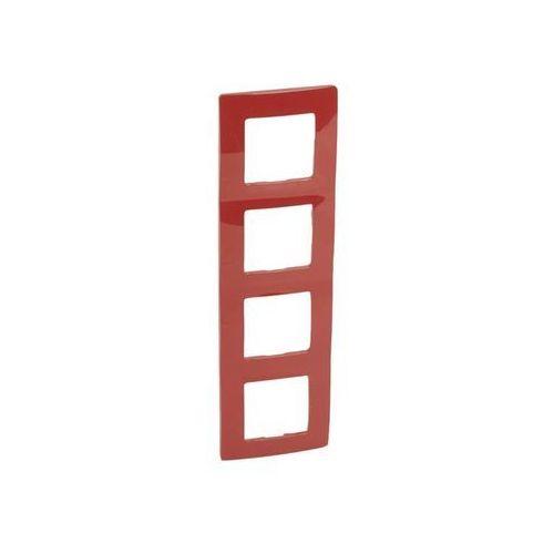 NILOE Ramka poczwórna czerwony tworzywo Poziomy i pionowy poczwórna 665024 LEGRAND, 665024