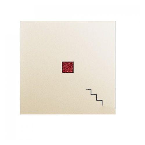 """HAGER POLO polo.fiorena Klawisz z czerw. okienkiem, z symbolem """"schody"""", do łączników podświetlanych krem 22040003, 22040003"""