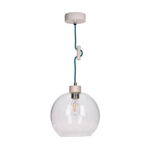 Lampa wisząca zwis oprawa Spot Light Svea 1x60W E27 dąb bielony/petrol 1356332, 1356332