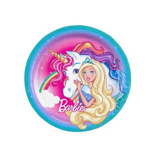 Talerze Barbie Dreamtopia 23cm op. 8szt