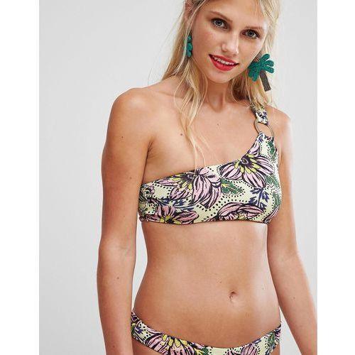 low rise bikini briefs in floral print - yellow, River island