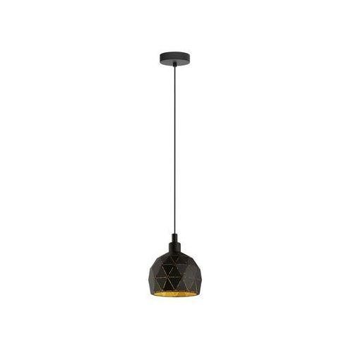 Eglo Roccaforte 33345 lampa wisząca zwis oprawa 1x40W E14 czarna/złota, 33345