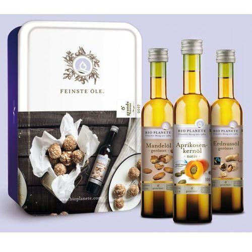 Żż zestaw prezentowy trzy oleje bio 3x100 ml - bio planete marki Bio planete (oleje i oliwy)