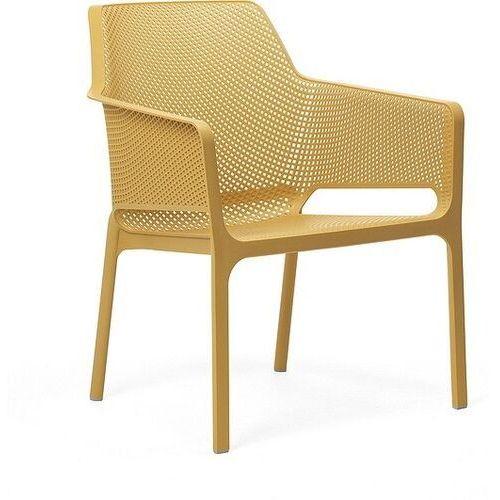 Nardi Krzesło ogrodowe net relax musztardowe