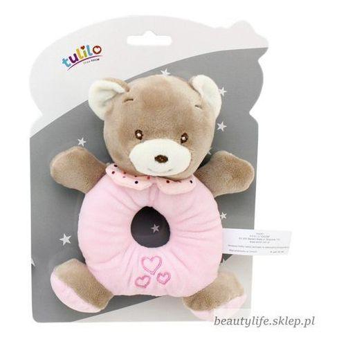 Grzechotka New Baby Miś różowy 16 cm (5902002077125)