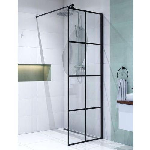 Ścianka Walk In 70 cm szkło z czarnymi szprosami BK251T07A6