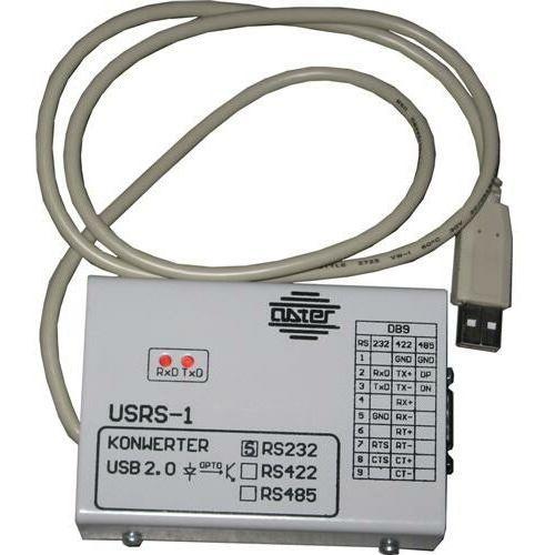 Konwerter USRS-1/232 Konwerter USB RS232 zapewnia optoizolację i umoliwia podłączenie do komputera przez USB urządzeń wyposażonych w port RS232 (kasy, drukarki fiskalne itp.). Konwerter posiada sterowniki dla systemów Windows 98 - XP oraz jest obsługiwany w systemie Linux