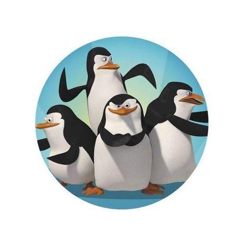 Modew Dekoracyjny opłatek tortowy pingwiny z madagaskaru - 20 cm - 2