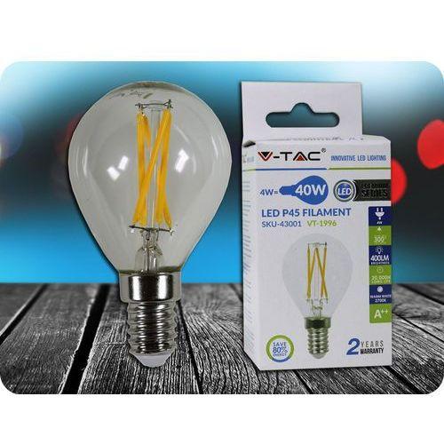 E14 LED ŻARÓWKA 4W (400LM), P45 + Bezpłatna natychmiastowa gwarancja wymiany!