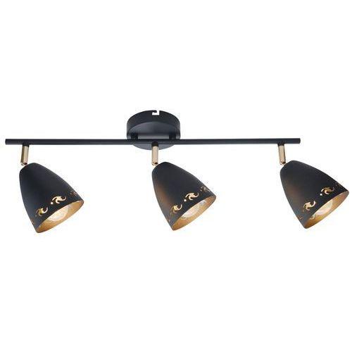 Listwa lampa sufitowa plafon spot Candellux Coty 3x40W E14 czarny 93-67173 (5906714867173)