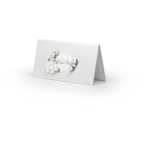 Etui na pieniądze kremowe z błękitnymi kwiatkami - 1 szt. marki Ap