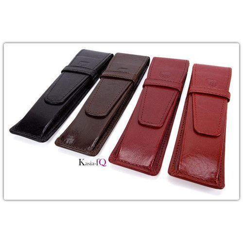 Etui na pióra naturalna skóra licowa w 4 kolorach - produkt z kategorii- Etui i pokrowce