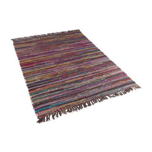 Beliani Dywan bawełniany 160 x 230 cm ciemny wielokolorowy danca