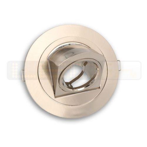 Oprawa halogenowa sufitowa okrągła obrotowa, odlew stopu aluminium- satyna marki Led line