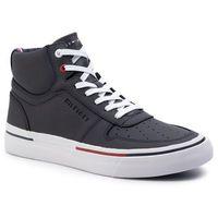 Sneakersy TOMMY HILFIGER - Core Corporate High Vulc Sneaker FM0FM02276 Midnight 403, kolor szary