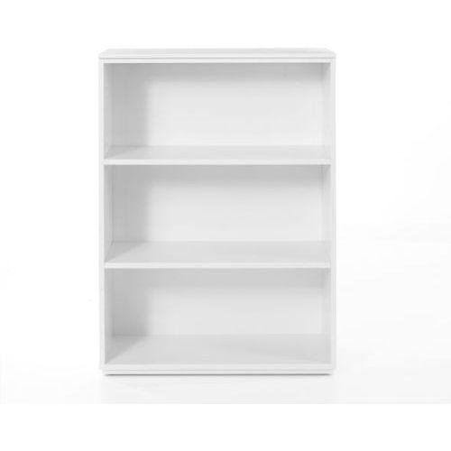 Regał 110/80 cm z regulowaną wysokością półek performance 2 - biały marki Tvilum