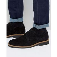 lime derby shoes in black suede - black marki Silver street