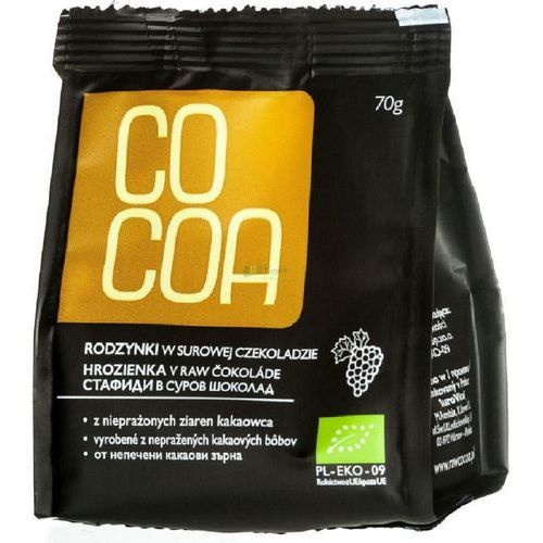 Rodzynki w surowej czekoladzie BIO 70g - Cocoa (5902768064537)